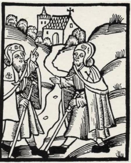 Frontespizio della Guida del Pellegrino, edizione di Lipsia del 1521